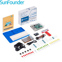 SunFounder Beginners Raspberry Pi 3 Learning Kit Clear Case 8G TF Card Raspbian Preloaded 2.5A Power Supply