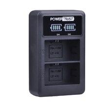 1 Pacote LP-E6 LPE6 LP E6 LEVOU USB Carregador de Canal Duplo para Canon 5D Mark II III 7D EOS 6D 60D 80D DSLR