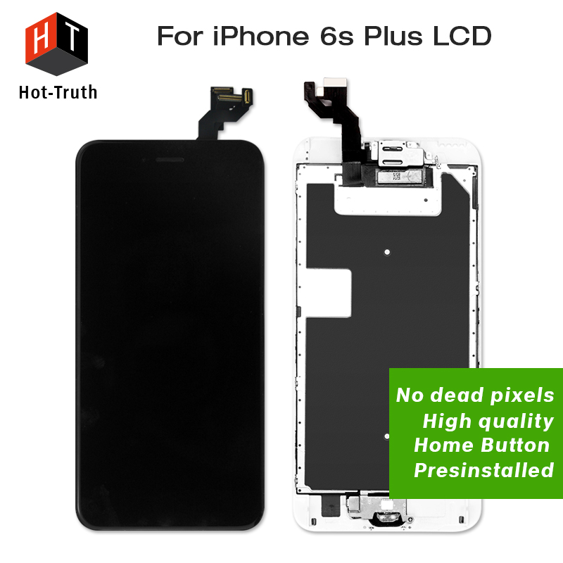 Hot-Truth 5Pcs/Lot LCD For iPhone6s Plus Complete Touch Screen Display Digitizer Assembly+Home Button+Front Camera+Free Shipping 100va ultra low noise lps hi end r core linear power supply 100w psu for audio dc5v 24v optional with display