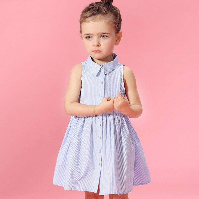 2016 Del Verano Del Bebé Princesa Sofía Denim Vestidos Julio