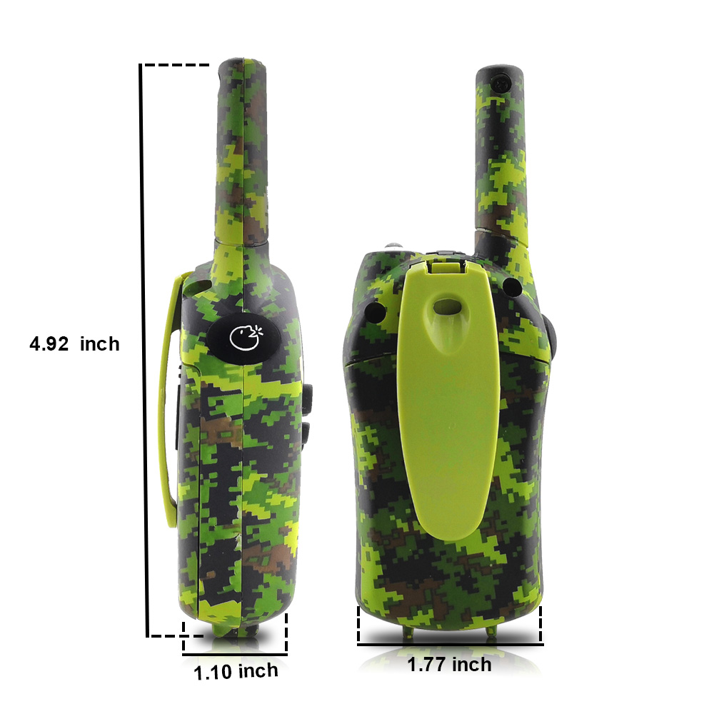 Image 3 - 2PCS/Set Kids Walkie Talkies Mini Two Way Radios Intercom Green Camo 22 Channel 446MHZ FRS Toys Interphone for Children-in Walkie Talkie from Cellphones & Telecommunications