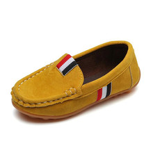 Spring Autumn Kids Flock PU Leather Casual Shoes Boys Loafers All Sizes 21-36 Boys Slip-on Soft Breathable Shoes For Kids стоимость
