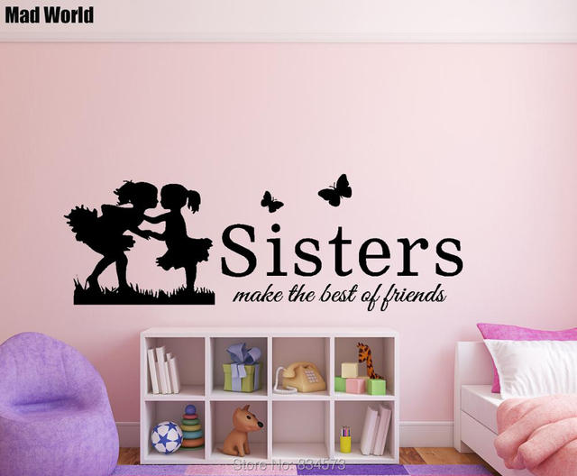 Mad World-Sisters make the best of friends Wall Art Stickers Wall Decal Home DIY  sc 1 st  AliExpress.com & Mad World Sisters make the best of friends Wall Art Stickers Wall ...