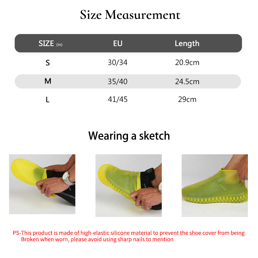 Image 5 - Vertvie Hot Sale Portable Rain Shoes Cover Silicone Anti Slip Reusable Waterproof Shoes Protector Unisex Cycling Accessories