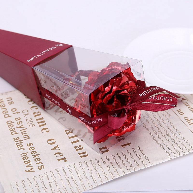 Gold Foil Plated Rose Wedding Decoration Golden Rose Dipped Artificiales  Artificial Flower Personalized Valentine's Day GIft