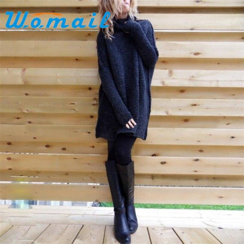 Durable 2017 venta caliente Tejer Suéter de Las Mujeres Suelta de Manga Larga Ot