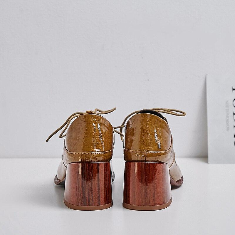 ZVQ แฟชั่นรองเท้าแต่งงานสีขาวสีแดงสีเหลือง cow สิทธิบัตรหนังฤดูใบไม้ผลิปั๊มสำนักงานรองเท้าส้นสูงรองเท้าผู้หญิง drop การจัดส่ง-ใน รองเท้าส้นสูงสตรี จาก รองเท้า บน   3