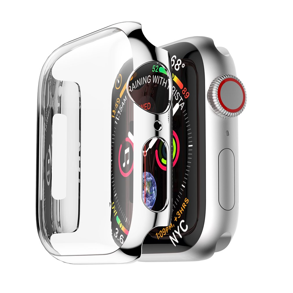 United Pc Plating Watch Case Cover Housing Shell For Apple Watch Series 4 40/44mm Perfect Fit Precise Hole Design Repair Tools & Kits Watches