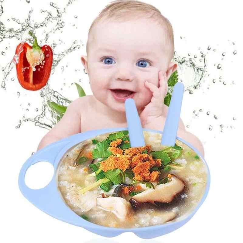อาหารเด็ก 3pcs ความปลอดภัยชามช้อนเด็กทารกชุดให้อาหาร Assist การเรียนรู้อุปกรณ์ได้อย่างอิสระชุดอาหาร