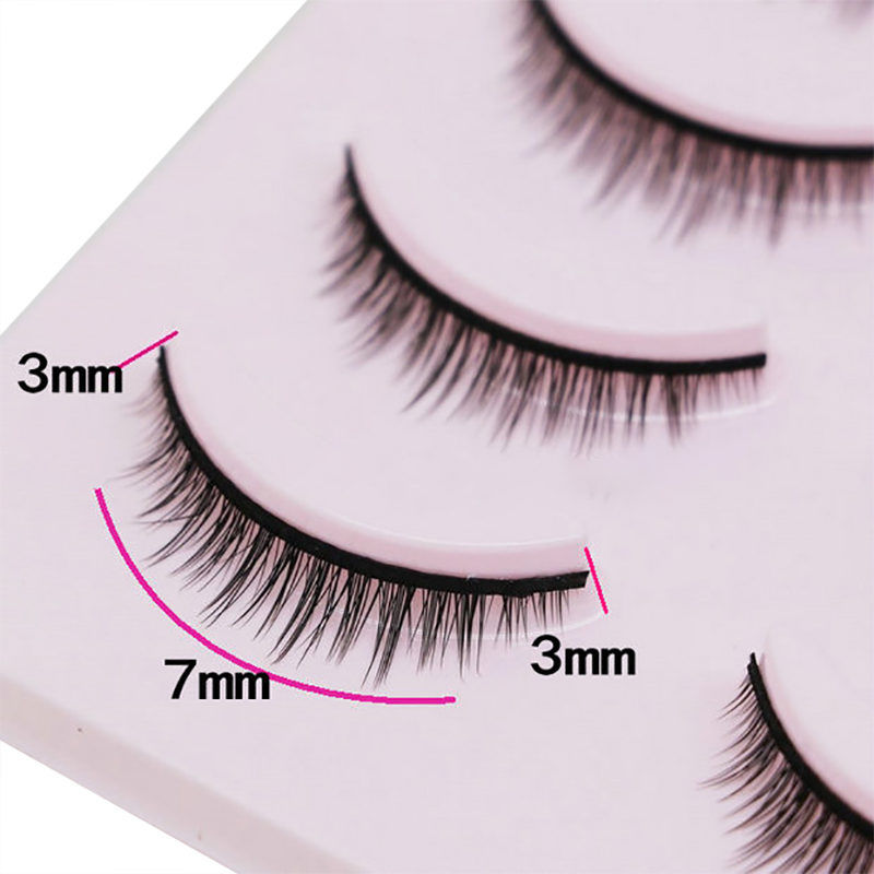 Image 5 - 5 Pairs New 3D Mink Popular Natural Short Cross False Eyelashes Daily eye lashes Girls Makeup Necessaries eyelashes maquiagem-in False Eyelashes from Beauty & Health