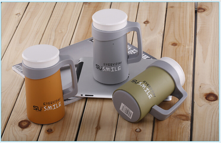2016 New Thermo Mug 500ml Double Layer Deck Car Thermos Coffee Mug Cup 304 Stainless Steel