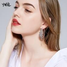 Fashion Necessary Models Nightclub Queen Amorous Feelings hei bai zuan Exaggerated Big Earrings