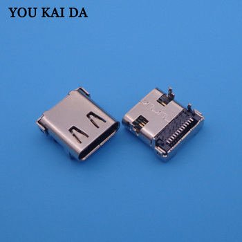 100PCS/LOT USB connector Type C 3.1 Female connector 24Pin 12Pin SMD+ 12Pin DIP with 4 Fixed feet DIP Tape Reel