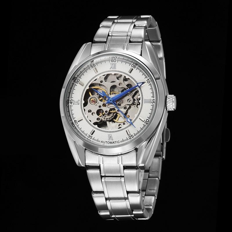GOER brand fashion men s mechanical watches Sports waterproof Luminous Stainless Steel Skeleton Automatic Wrist watch