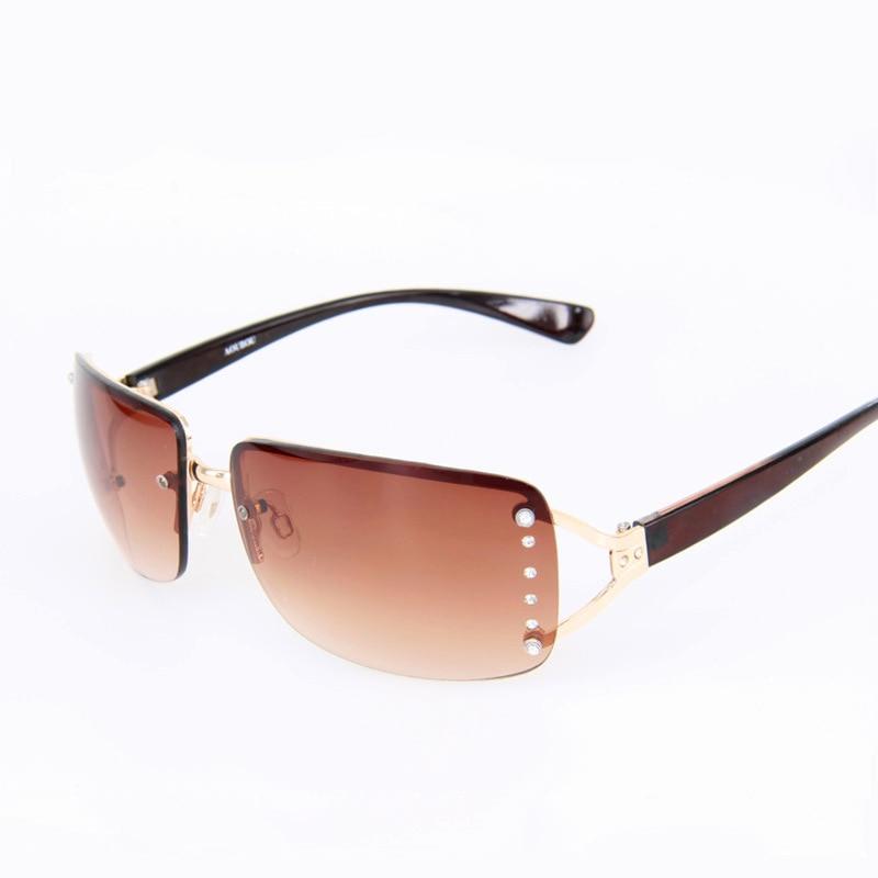 rimless sunglasses women brand luxury diamond white square. Black Bedroom Furniture Sets. Home Design Ideas
