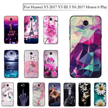 Phone Case For Huawei Y5 2017 Y5 III Y5 3 Case Silicon Soft Cover for Huawei Y6 2017 MYA-L22 MYA-L03 Honor 6 Play Bags TPU Cover
