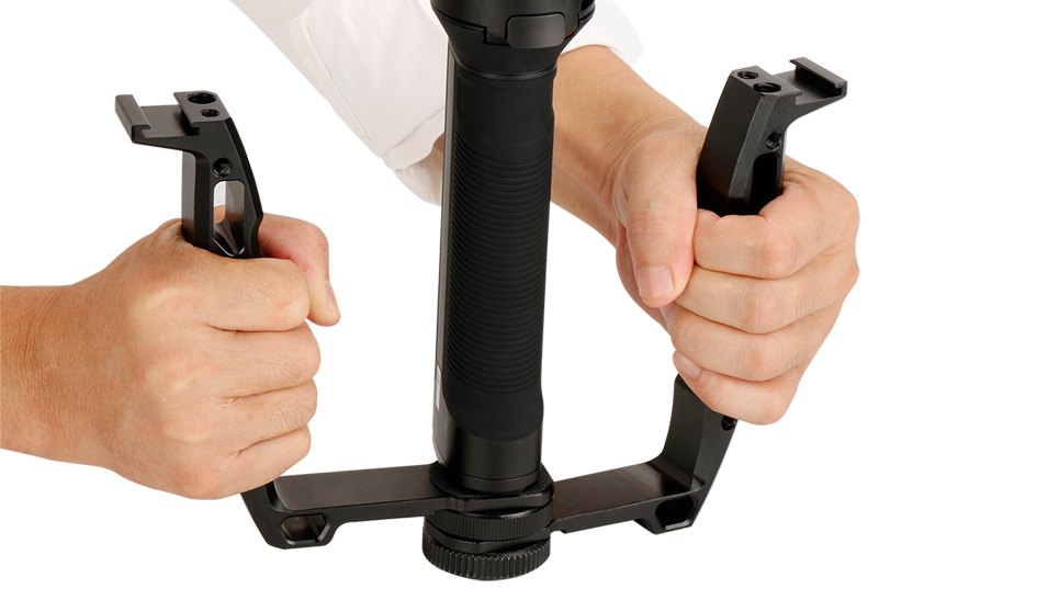 Gimbal Accessories L Bracket Stand Handle Grip with Hot Shoe 1/4'' Screw for Zhiyun Crane 2 DJI Ronin S Weebill LAB Stabilizer 11