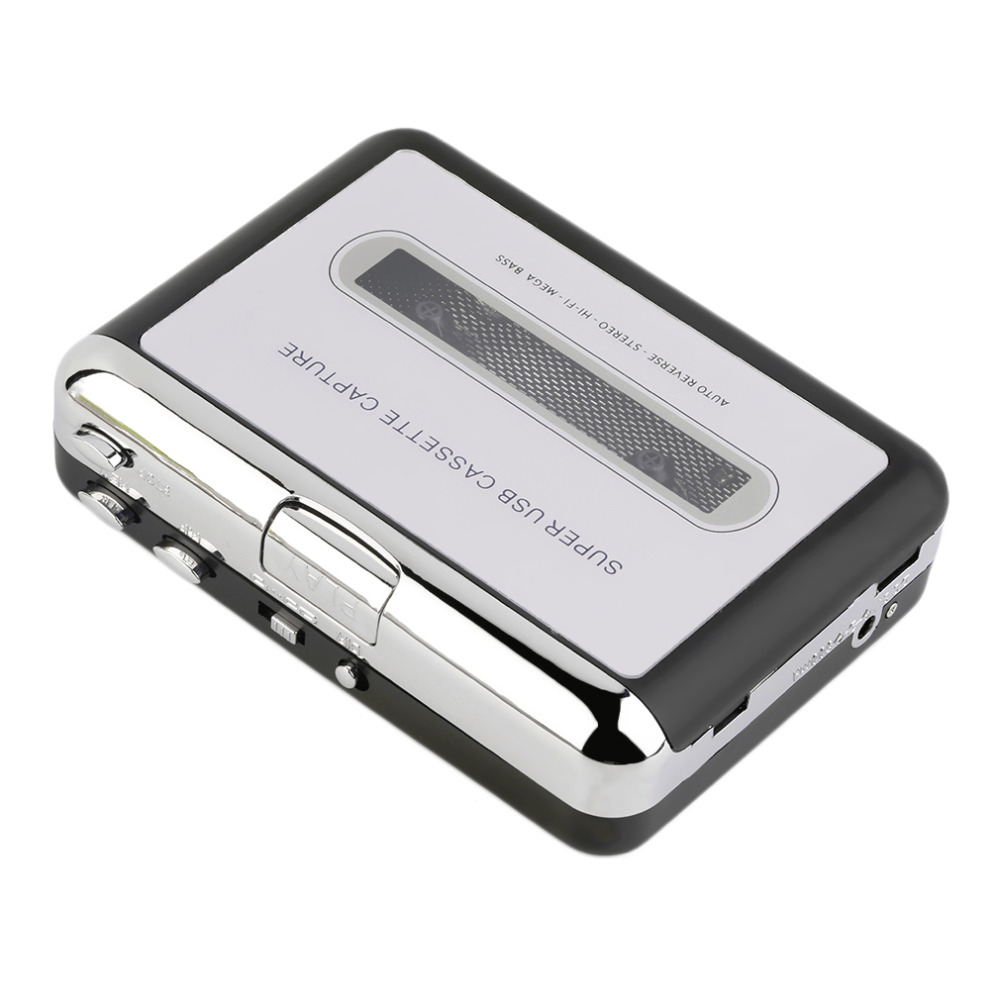 New USB Cassette Tape Converter Cassette to MP3 Audio capture Music Walkman Player Tape to PC Portable Cassette to MP3 Converter