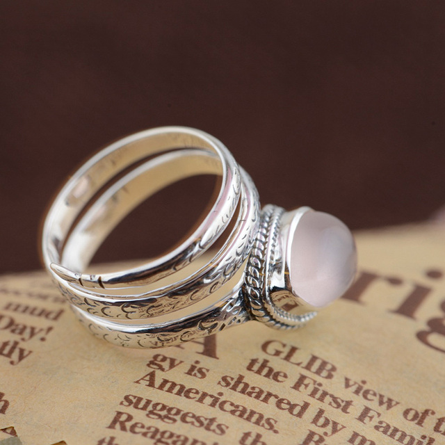FNJ Natural Stone Ring S925 Thai Silver Rings for women Jewelry 925 Sterling Silver anillos Male