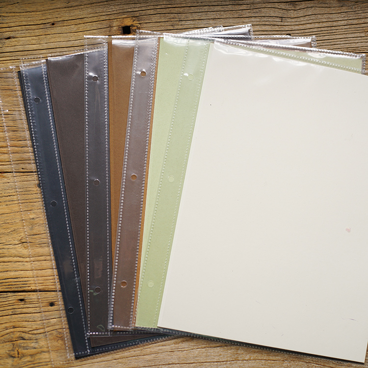 Big Vertical 3 Holes 29.5*21.5CM 6 Colors Of Select Card For Diy Photo Album Adding PP Inside Pages Scrapbooking 10/20/30 /Set