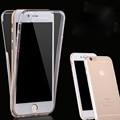 Для Apple iPhone 7 7 Плюс телефон case 360 Градусов Полный Охват Тела Прозрачный Мягкие TPU Силикона Ультратонких Обложка