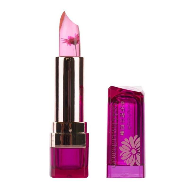Moisturizer Long lasting Jelly Lipstick Magic Color Temperature Change 100 Original Beautiful Jelly Flower Lipstick Matte Batom in Lipstick from Beauty Health