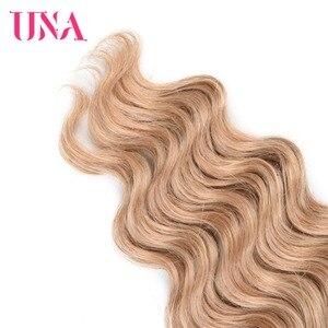 Image 4 - Extensiones de cabello humano Remy, mechones de cabello indio precoloreado con ondas profundas, 1/3/4 mechones