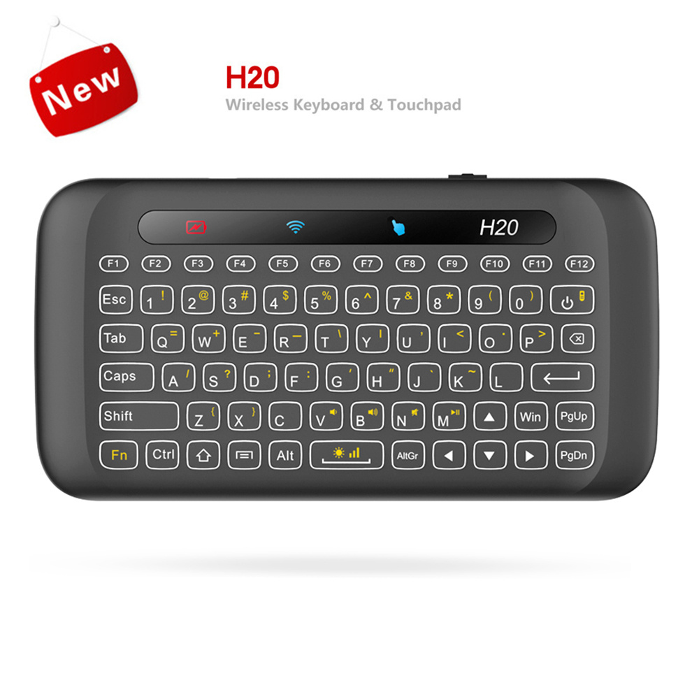 H20 2.4GHz Wireless Mini Keyboard Touchpad With Backlight Function For Windows Mac OS Linux-in
