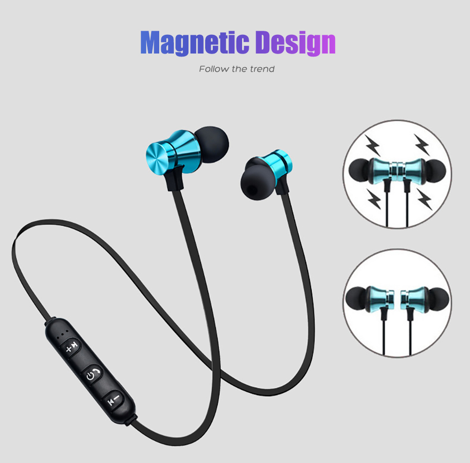 Wireless Headphone Bluetooth Earphone Magnetic Headset Neckband Sport Running Bluetooth Earphones For iPhone 7 X Xiaomi Earphone (4)