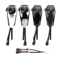 Автоматическая светодиодный Шестерни Ручка переключения для BMW E90 E91 E93 E81 E82 E84 E87 E88 E89 LHD кожаные Пластик