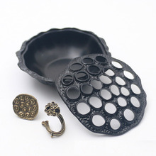 1 Piece (For Incense Coil Less Than 7cm Diameter) Lotus Shape Alloy Incense Burner