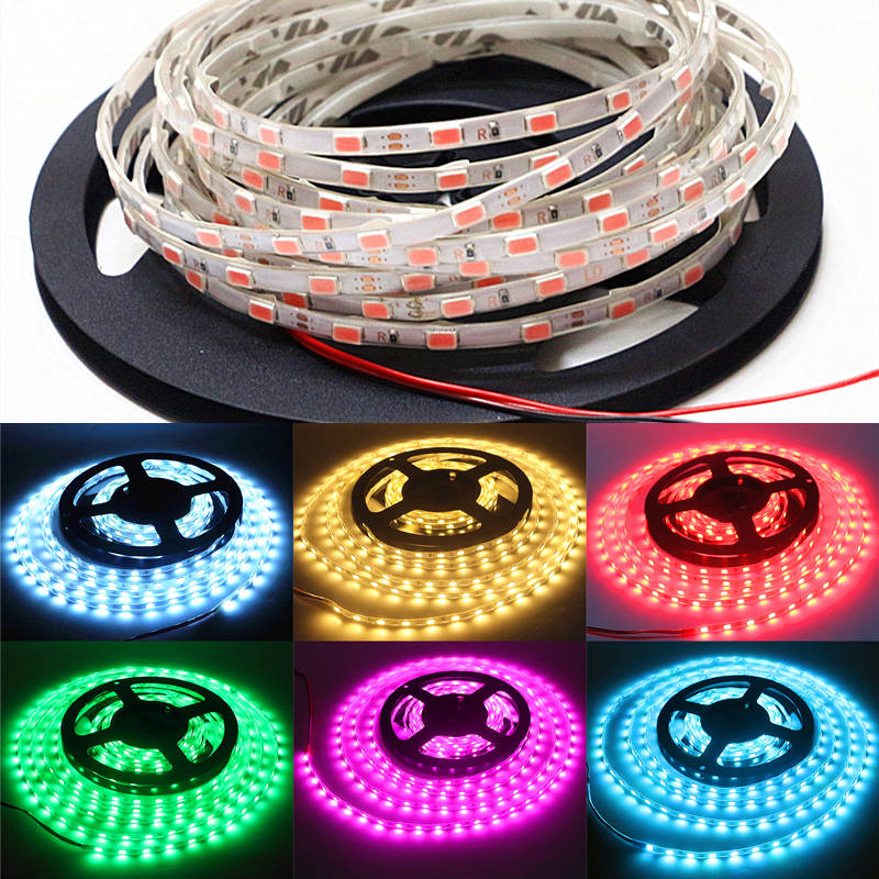 DC12V 1M 5M 60leds/m IP67 Tube Waterproof SMD 5630 Flexible LED Strip light White/Warm white/Red/Green/Blue/Yellow/Pink/Ice Blue 3528 smd 120 led m led strip 5m 600 led 12v flexible light no waterproof white warm white blue green red yellow