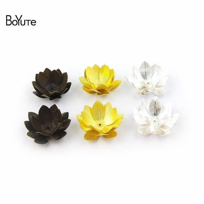 BoYuTe (10 PiecesLot) 26MM Silver Gold Bronze Metal Brass Filigree Flower Decoration (6)