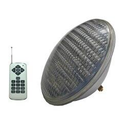 Basen reflektor LED Piscinal PAR56 18W 36W 54W oświetlenie podwodne AC12V wielekolorowy z pilotem ciepły biały zimny biały