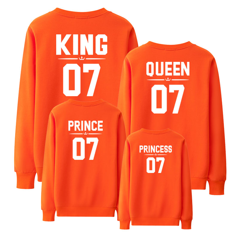 king queen princess prince mother daughter matching outfits father son sweatshirt mommy and me family look clothes mom baby 2019