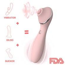 Nipple Sucking Vibrator dildo vibration 13 Speed G spot Clitoris Stimulation Erotic Adult sex toys for Women