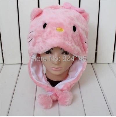 Beanie Kids Cartoon Animal Bat - White KITTY Pink Bow Hat Children  Caps>>Skullies & Beanies beanie white rabbit cartoon animal hat props cap child hat caps skullies