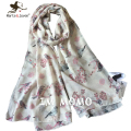 [Marte&Joven] 180*105 cm Fashion Casual Spring Autumn Bird branch Scarves and Shawls Women 2 color