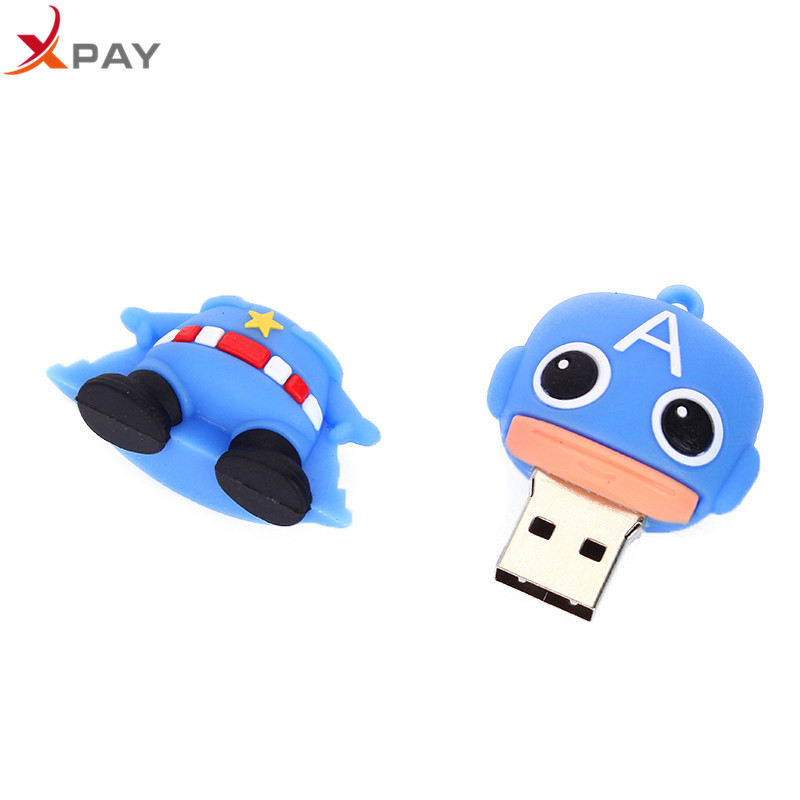 Image 4 - USB 2.0 Cartoon Captain America Usb Flash Drive 32GB 16GB Pen Drive 4GB 8GB 64GB Pendrive 128GB Silicone Storage for gift U Disk-in USB Flash Drives from Computer & Office