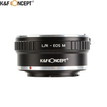 K&F Concept Lens Mount Adapter Fit For Leica R Lenses To the Canon EOS M Mirorless Camera Body L/R EOS.M Ring