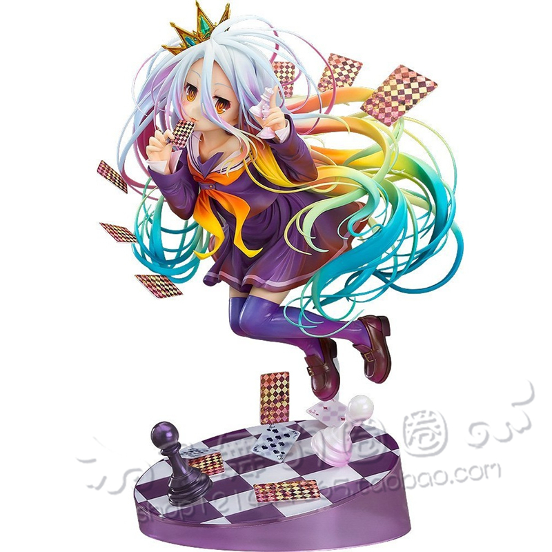 Hot Japanese Anime Shiro NO GAME NO LIFE GAME LIFE White 3 Generation Poker Action Toy Figures Figure Collectible FigurinesHot Japanese Anime Shiro NO GAME NO LIFE GAME LIFE White 3 Generation Poker Action Toy Figures Figure Collectible Figurines