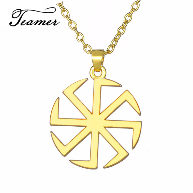 Teamer Viking Tunes Symbol Of Wealth Pendant Necklace Link Chain