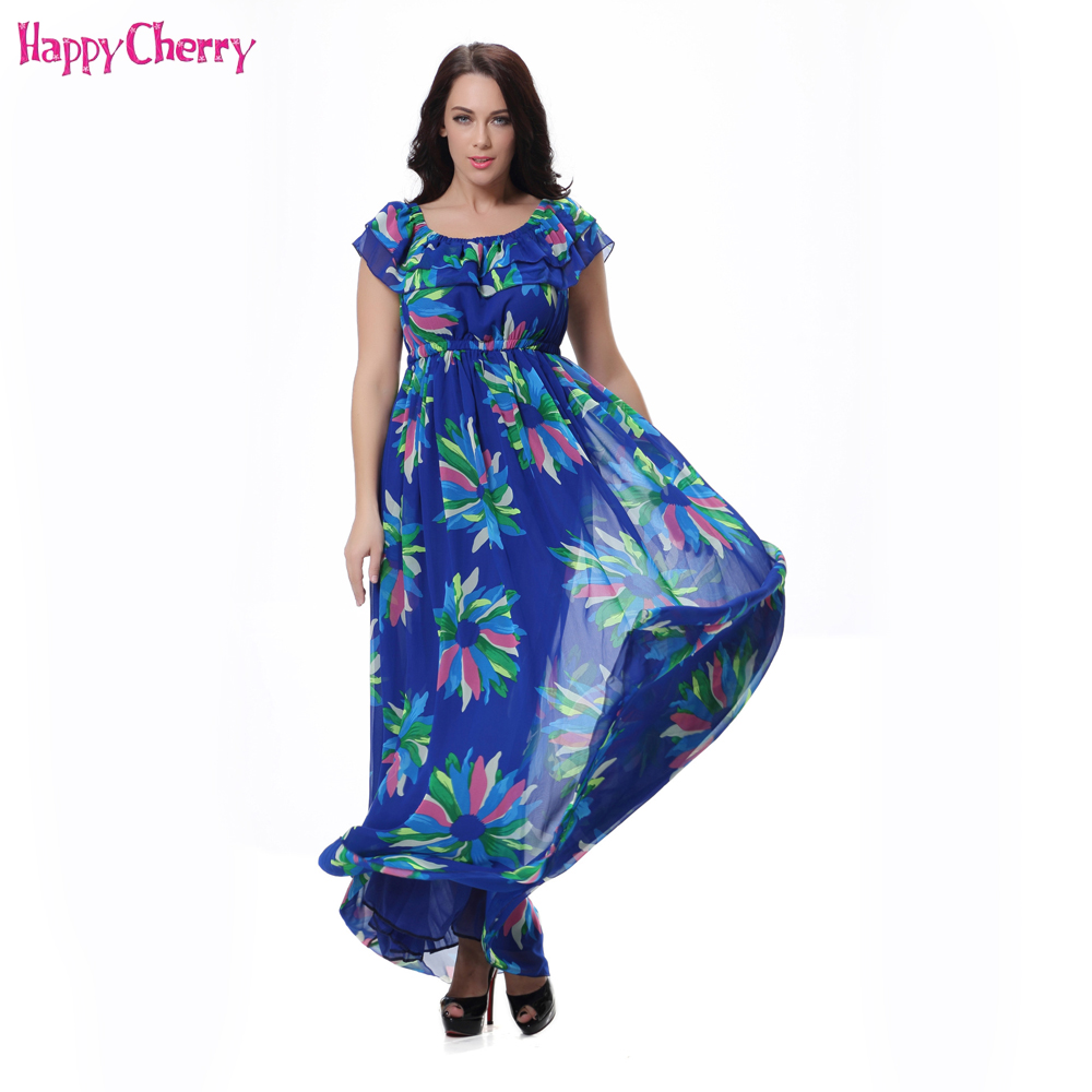 New Maternity Dresses Summer Women's Sleeveless Printing Long Dress Chiffon Bohemian Beach Pregnant Women Dress Plus Size M-6XL 2017 deep v neck women dress sexy plus size red blue summer clothes for pregnant women short sleeve evening dresses m 6xl sale