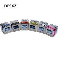 Desxz TT029 ЖК-Мини Цифровой портативная колонка Портативный Музыка MP3/4 Игрока Micro SD/TF USB Disk Динамик Fm-радио Плеер для музыки ТВ спикер