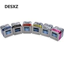 Desxz TT029 Mini LCD Digital Portable de la Música MP3/4 Jugador Micro SD/TF USB Radio FM Altavoz Disco Reproductor de música TV altavoz