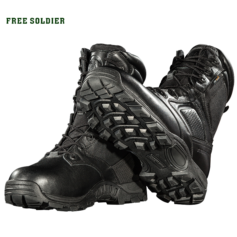 FREE SOLDIER outdoor sports camping hiking men shoes winter high tactical military boots for male waterproof