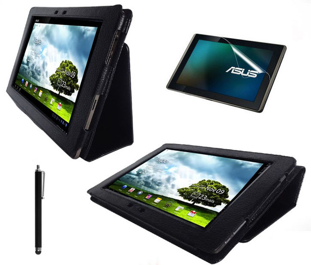 3in1 Bracket Stand luxury leather case For Asus Eee Pad Transformer Prime TF201 + Free TF201 Screen Protector+Free Stylus