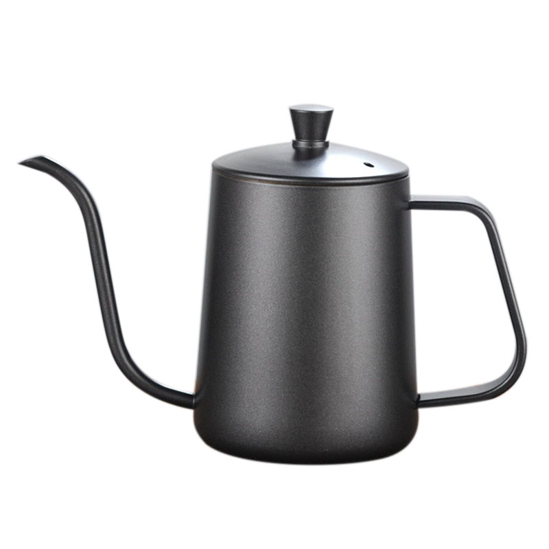 HOT-Thicker Long Mouth Hand Coffee Pot Stainless Steel Coffee Maker Europe Style Milk Pot Tea Pot