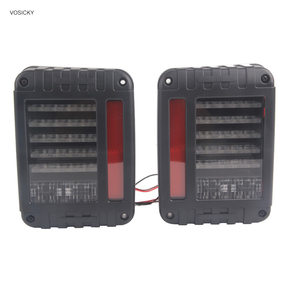 VOSICKY LED Reverse Brake Tail Lights With EU/US Standard Reverse Light Signal Light Car Auto Tali Light For 07-16 Jeep Wrangler