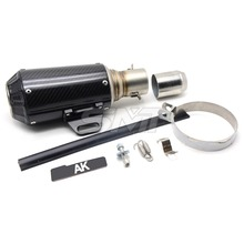 Motorcycle Modified Akrapovic Exhaust Pipe Scooter Muffler pipe for Honda Suzuki Yamaha Kawasaki Ducati